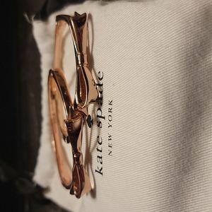 Kate spade Rose Gold bow Bracelet set